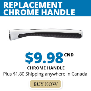 Replacement Razor Handle Chrome